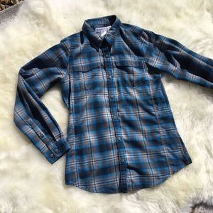 Exofficio Plaid Flannel Button Up Shirt Size XS